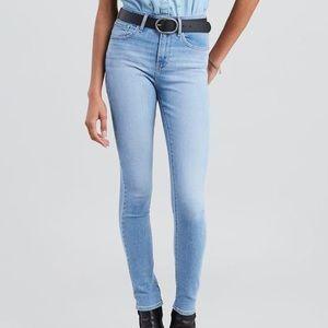 Levi 721 High Rise Skinny Jeans, Light Wash